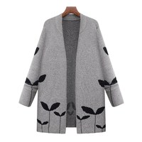 2017 Women Winter Autumn Warn Casual Loose Long Sleeve Knitted Sweater Cardigan Knitwear Coat Jacket Outwear