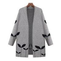 2017 Women Winter Autumn Warn Casual Loose Long Sleeve Knitted Sweater Cardigan Knitwear Coat Jacket Outwear