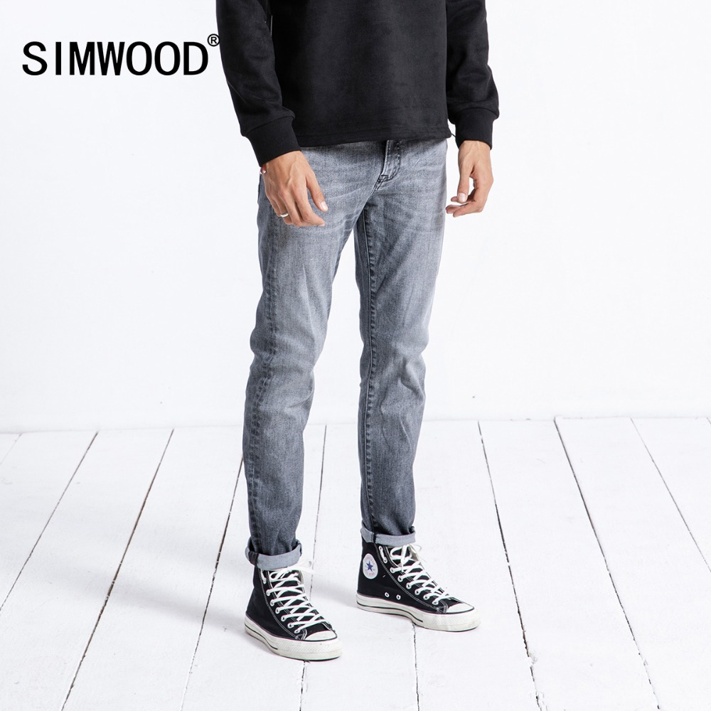SIMWOOD 2019 New   Jeans   Men Spring Fashion Slim Fit Vintage High Quality Denim Pants Brand Clothing Trousers Masculina 180334