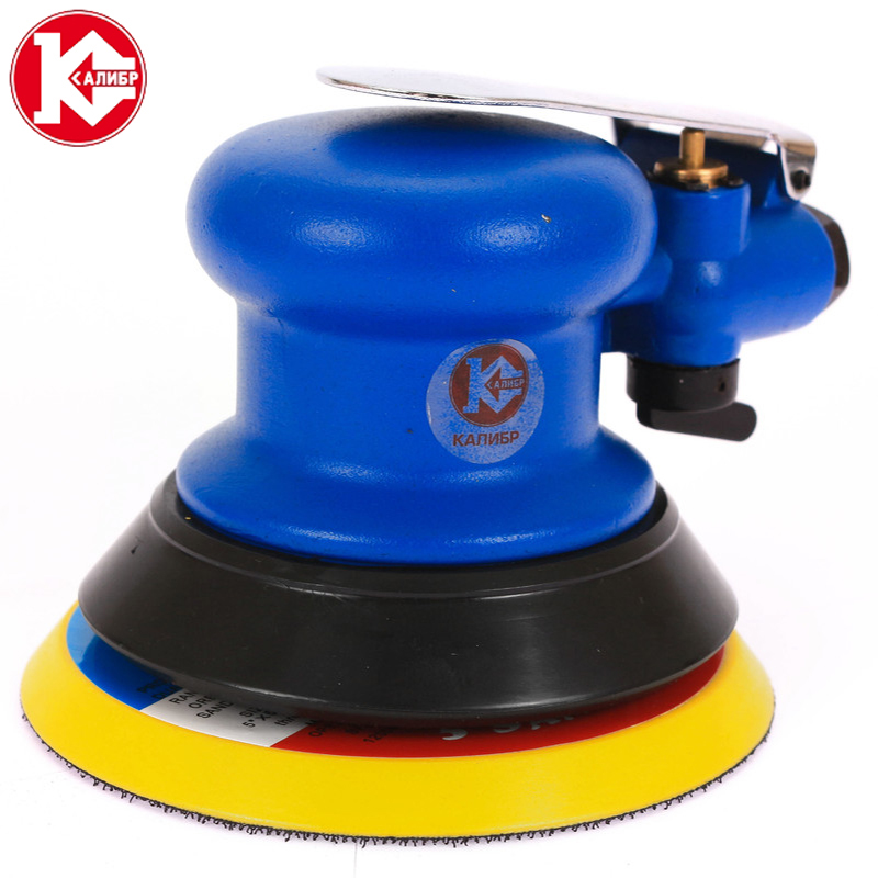 Kalibr PESHM-6.3/125V PROFI Pneumatic Polishing Machine Round Pneumatic Sander Sandpaper Random Orbital Grinder [badge machine suppliers] pin button badge machine 44mm round badge mould