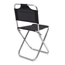 Portable Folding Fishing Chair Aluminum Oxford Cloth Stool Outdoor Sports Camping Fishing Backrest Chairs Tool Accessories