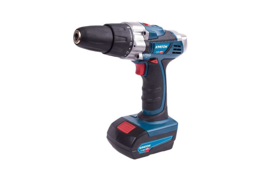 Cordless Drill-Screwdriver KRATON CDL-18-1-H wosai 20v lithium battery max torque 380n m 4 0ah brushless electric impact wrench diy cordless drill cordless wrench
