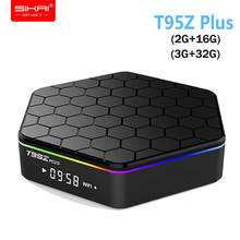 H96 T95Z Plus Smart Andorid TV BOX 7.1 OS Set top box 2GB 16GB 3GB 32GB Amlogic S912 T95Z+ Octa Core 2.4G/5GHz WiFi BT4.0 4K цена и фото