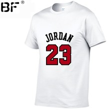 fd98acf71 Lato Hot sprzedaż nowy Tee Jordan 23 druku mężczyzn Swag koszulka  najwyższej jakości bawełny mężczyźni/