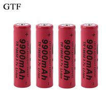 GTF 1pcs/set Brand New 18650 battery 3.7V 9900mAh rechargeable li-ion battery for Led flashlight Torch cell 18650 batery все цены