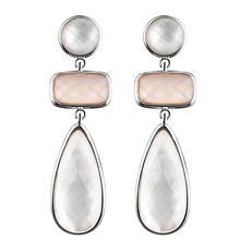 DORMITH real 925 sterling silver earrings  natural mother of pearl earrings water drop earrings for women fine gemstone jewelry все цены