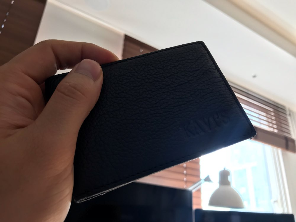 KAVIS Genuine Leather Credit Card Wallets Men Women Bank Credit Card Holder Wallet Leather Wallets for Credit Cards Small Walet photo review