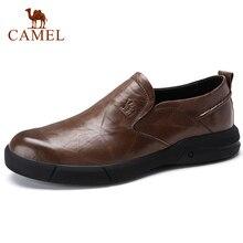 KAMEEL Herfst Nieuwe Toevallige mannen Instappers Mannen Echt Lederen Schoenen Mode mannen Business Lichtgewicht Elastische Slip Mannen Schoenen