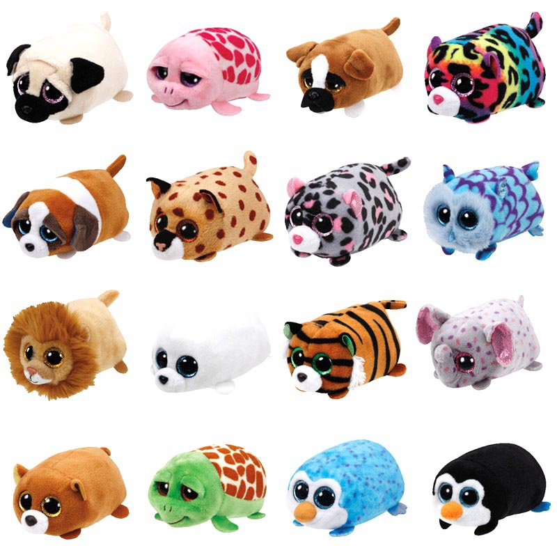 10CM Mini Original Plush Toys Beanie Boos Big Eyes Pocket Candy pig Stuffed font b Doll