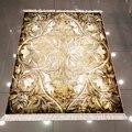 Else Коричневый Золотой Желтый кремовый цветочный этнический 3d микрофибра Противоскользящий задний моющийся декоративный ковер