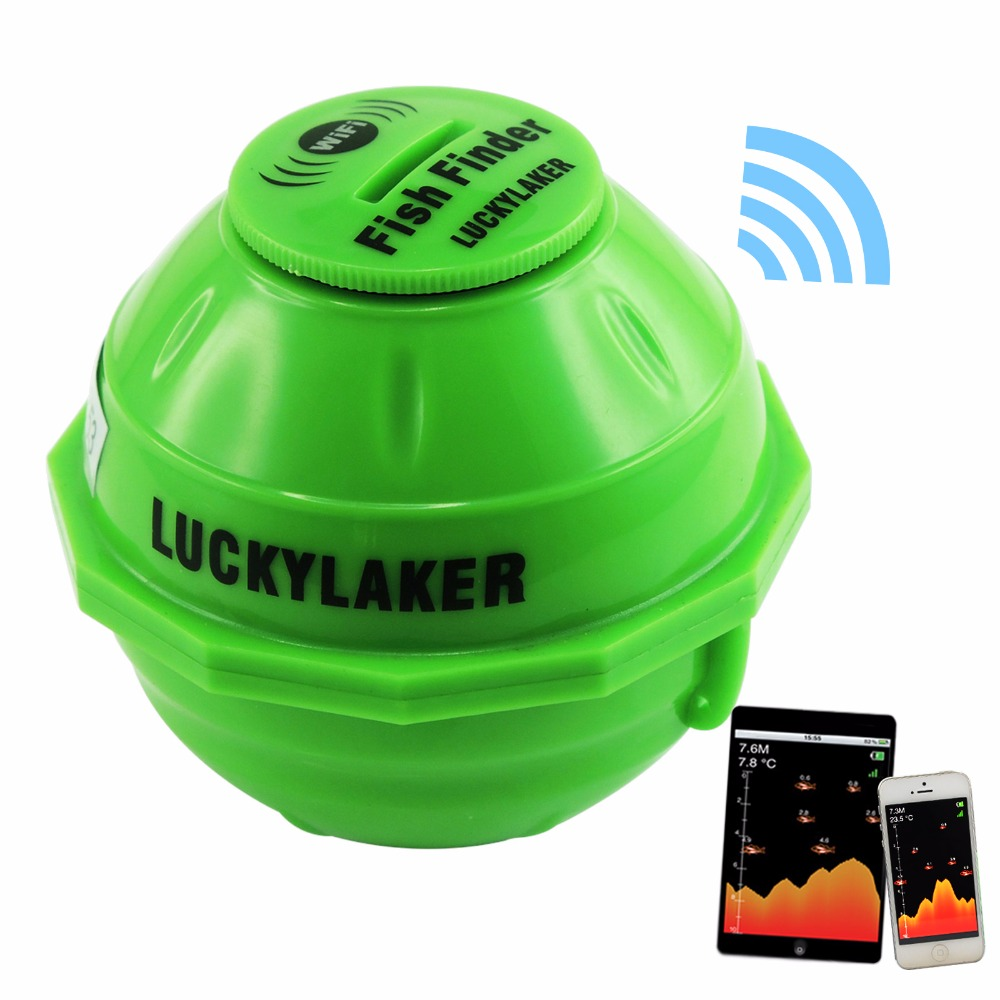 цена на FF-916 LUCKY WIFI Wireless Fish Finder Depth Sounder 50m IOS Android 130ft Fishfinder Sonar