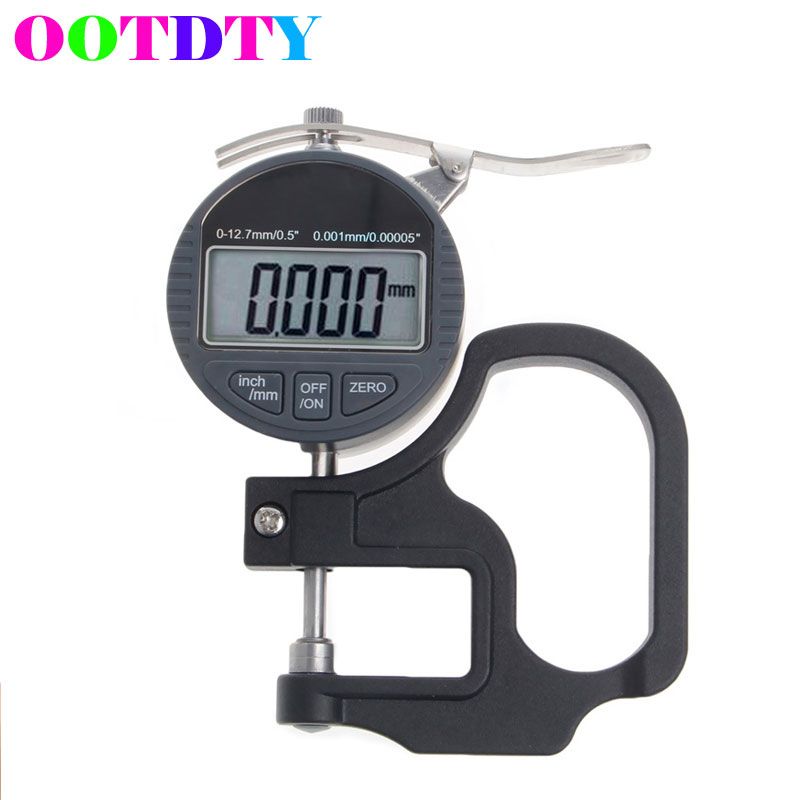 OOTDTY Digital Electronic Thickness Micrometer 0.001 12.7mm Electronic Thickness Gauge Depth LCD Measurement free shipping ip65 digital micrometer 0 25mm 0 001mm waterproof micron outside micrometer electronic digital readout micrometer