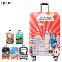 2017 New Elastic Suitcase Dust Cover Brand Designer Zipper Suitcase Protection Cover Travel Accessories Applicable To