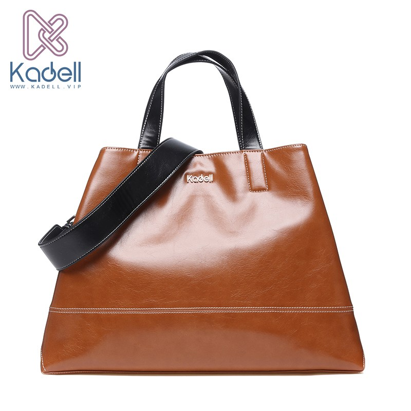 Kadell Unisex Handbags For Men Large-Capacity Portable Shoulder Bags Travel Bags Package Soft PU Leather Retro Bags Women safebet brand high quality pu leather handbags for men large capacity portable shoulder bags men s fashion travel bags package