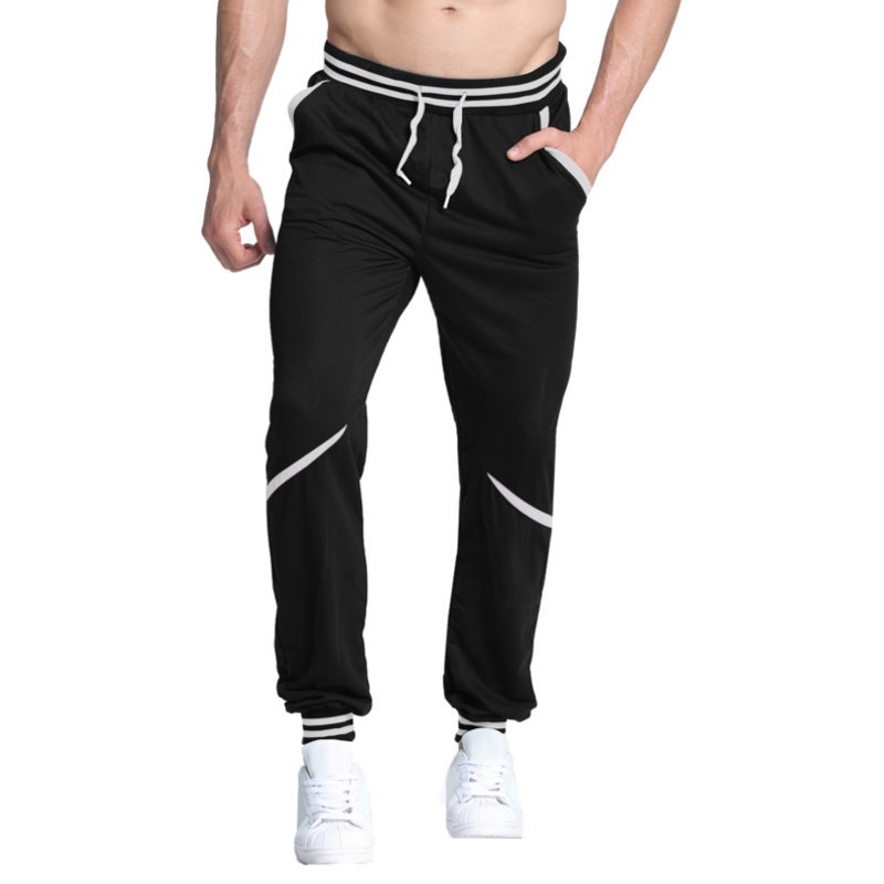 2018 New Fashion Tracksuit Bottoms Mens Track Pants Baggy Hip hop Sweatpants Mens Joggers Dance Sportswear Striped Gyms-Clothing