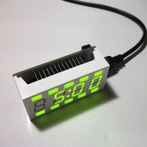 New Arrival 1 Set DIY C51 Mini Creating Simple White Desktop Electronic Clock Kit