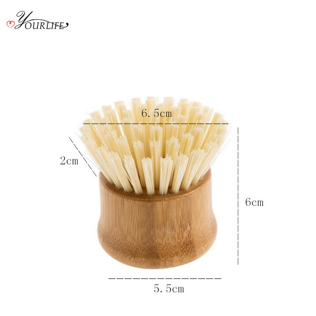 OYOURLIFE Kitchen Creative Bamboo Handle Cleaning Brush Scourer Pan Dish Bowl Pot Brush Household Kitchen Cleaning Tools 6