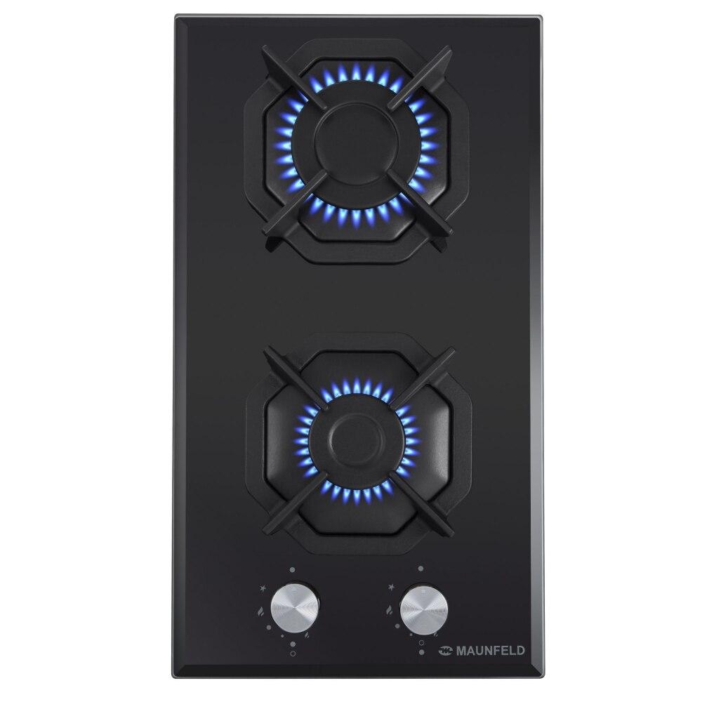 Cooking panel MAUNFELD EGHG.32.2CB/G Black cooking panel maunfeld eghg 32 2cb g black
