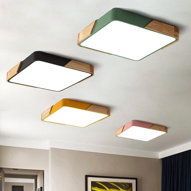 LED Moderne Acryl Metall Rahmen Quadratische Schlanke LED Decke Licht LED Licht Decke Licht Restaurant Wohnzimmer Schlafzimmer Decke Ligh