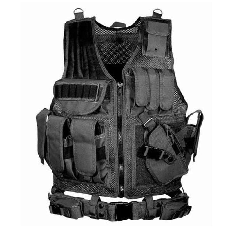 Tactical Vest Army Military Combat Camouflage Vests Tactical Airsoft Molle Adjustable Vest CS Detachable Clothing Colete Tatico