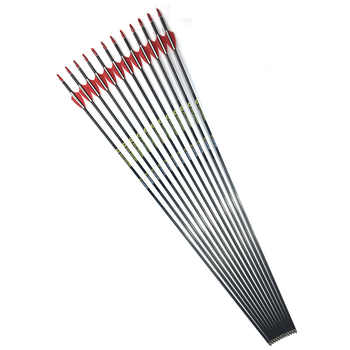 12pcs 31\'\' spine 350 400 500 600 700 800 900 OD 5.6 mm ID 4.2 mm Archery Carbon Arrows Hunting And Shooting Customer Made
