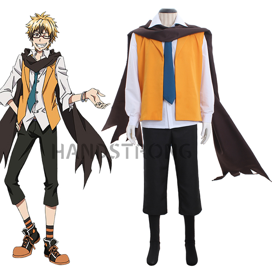 SERVAMP Lawless Hyde Greed Cosplay Costume Adult Men Halloween Costume Vest Shirt Scarf Uniform Suit Outfit