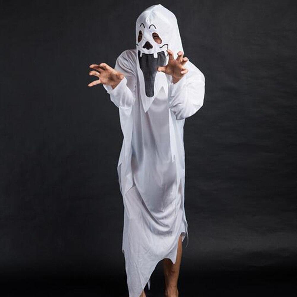 dd0a3055d8c2 Costumi di Halloween Fantasma Bianco Brandelli Abito Maschera Ragazzo Della  Ragazza Dei Bambini del Vestito Operato Da Cosplay in Costumi di Halloween  ...