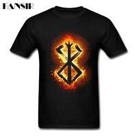 Classical T Shirt Men Male Berserk Sacrifice Logo Men Tshirts 100 Cotton Short Sleeve Group Brand