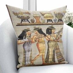 Innego brązowy żółty Eagypt perski etniczne Vintage tradycyjne 3D drukuj rzuć poszewka na poduszkę poduszka kwadratowa ukryty zamek błyskawiczny 45x45 cm w Poszewka na poduszkę od Dom i ogród na