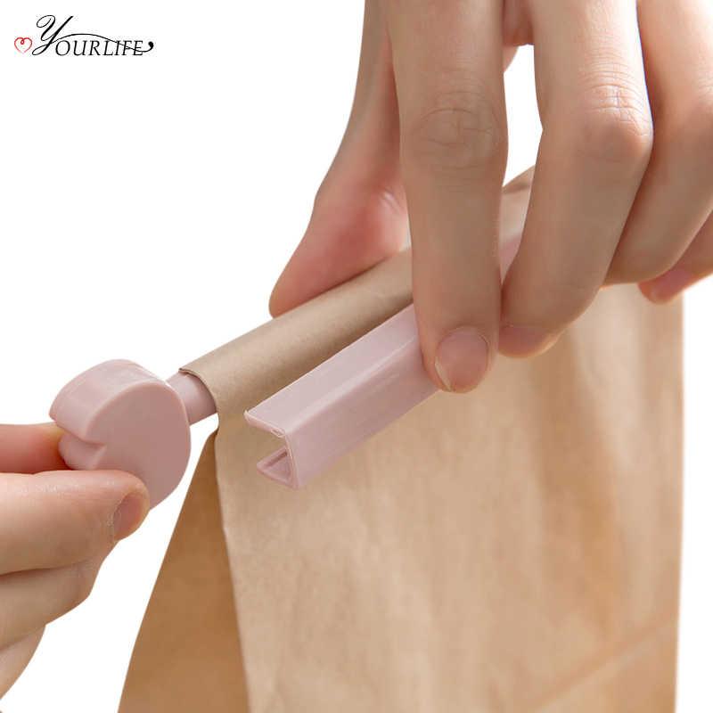 OYOURLIFE 4pcs/set Reusable Cartoon Bag Clips Snack Food Storage Sealing Clip Cartoon Mini Sealer Clamp Kitchen Gadgets