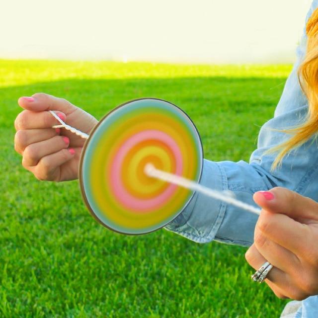 Diy Paper Spinner Wheel Children Funny Toy Autism Fidget Sensory