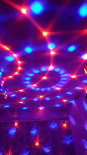 disco rotating light ball dj light party effect 7 colorful disco