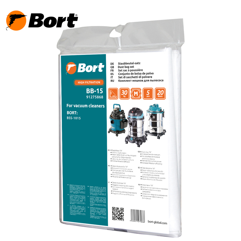 Set of dust bags for vacuum cleaner BORT BB-15 10pcs replacement vacuum cleaner bags dust collector paper bags for vacuum cleaner mc cg321 ca291 ca391c 13 bag parts