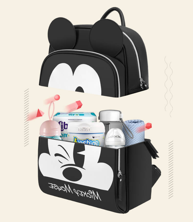 d2d4b3f99b21 Disney Minnie Gucci Inspired Striped Best Diaper Baby Bag Backpack Mummy  Maternity Care Large Capacity Nappy Bag