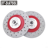 2pcs 125mm Double Sided Vacuum Brazed Diamond Cutting Grinding Disc Blade Wheel M14 Thread Multi Purpose