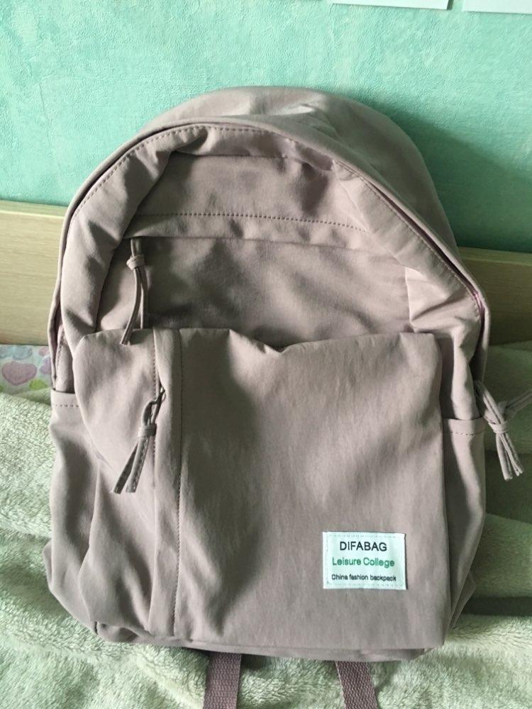 Classic Waterproof Nylon Women Backpack Large Capacity Multiple Zip Pocket Backpacks Travel Bag Teenage Girls Schoolbag photo review