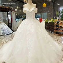 CHANVENUEL LS084631 ivory wedding dress simple