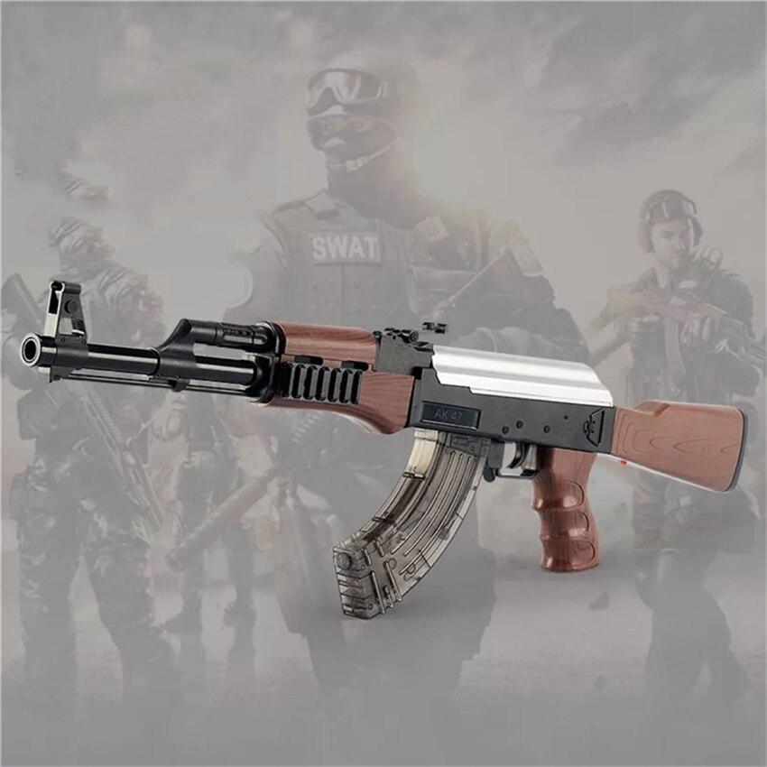 Vente chaude AK 47 Électrique Rafale Jouet Pistolet À Eau Pistolets à Balle Manuel Fusil Airsoft Pistolet À Air Pour Extérieur CS Jeu cadeau D'anniversaire pour enfants Jouets