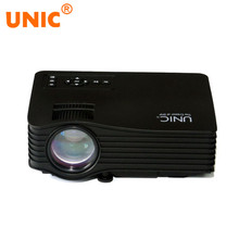 UNIC UC36 Portable LED Proyector 640×480 Multimedia Home Cinema Beamer proyector con AV Cable de control Remoto