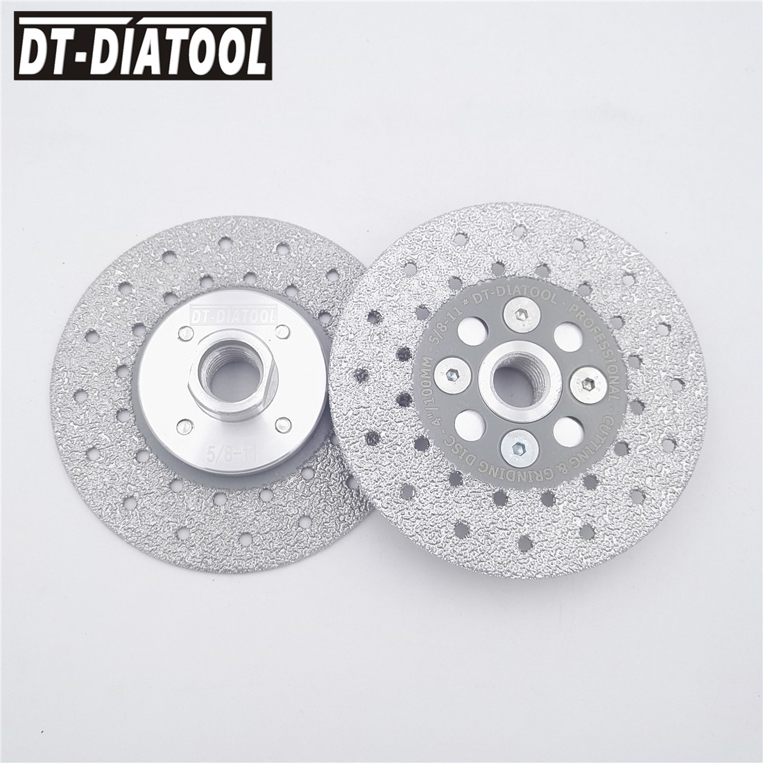 Tools Qualified 2pcs 4 Double Side Coated Diamond Cutting Disc Grinding Wheel 5/8-11 Thread 100mm Saw Blade For Granite Marble Stone Concrete