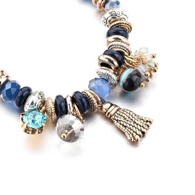 Купить chicvie золотые кисточки и синие цветы браслеты для женщин браслет картинки