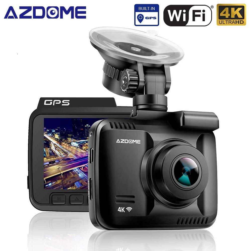 AZDOME GS63H 4 K 2160 P double objectif intégré GPS WiFi FHD 1080 P avant + VGA arrière caméra voiture DVR enregistreur Dash Cam Vision nocturne