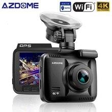 AZDOME GS63H 4 K 2160 P Dual Lens Costruito nel GPS WiFi FHD 1080 P Anteriore + VGA Telecamera Posteriore DVR Registratore dell'automobile Dash Cam di Visione Notturna