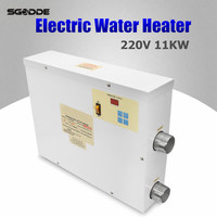 Pool Heater 11KW 220V Electric Swimming Pool and SPA Bath Heating Tub Water Heater Thermostat 220V Swimming Pool Accessories