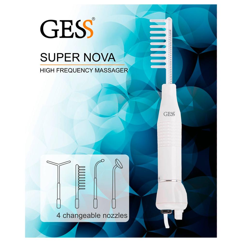 Super Nova, Darsonval Apparatus electropulse massager 4 nozzles for the control of problem skin GESS darsonval electrode drop electrodes darsonval darsonval nozzles health beauty and health skin care gess