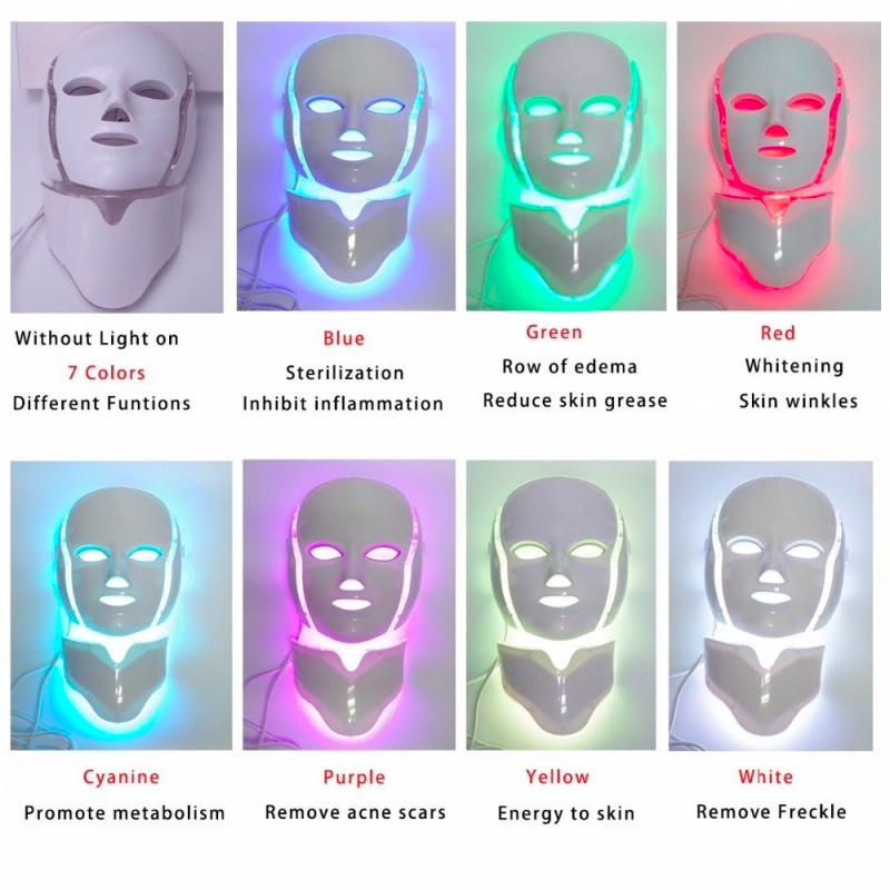 máscara facial led