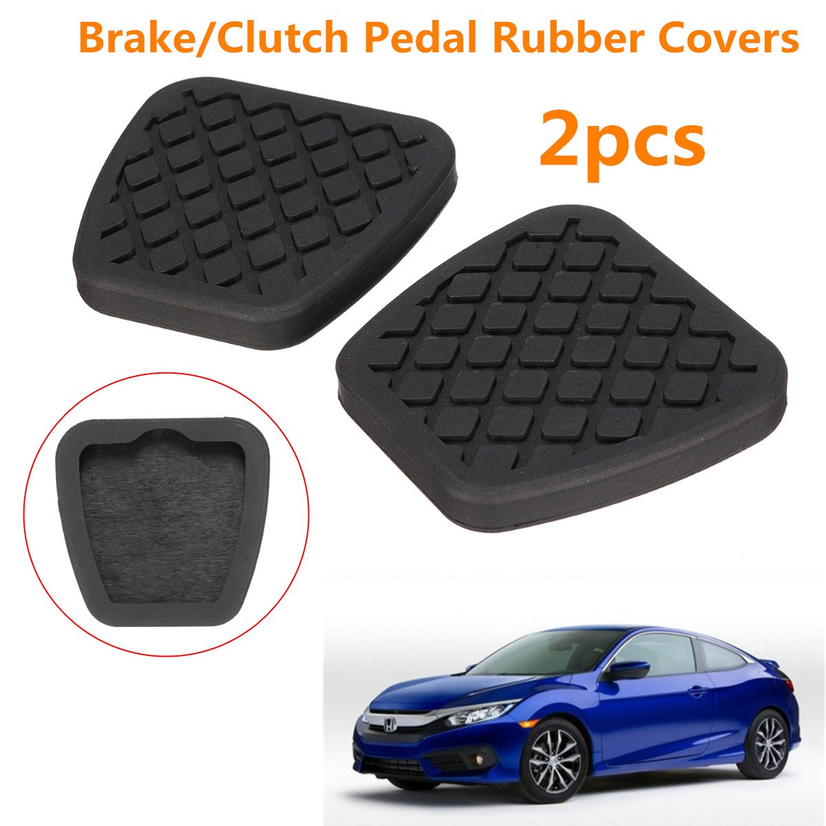 2X Brake Clutch Pedal Pad Rubber Cover For Honda /Civic /Accord /CR V  Prelude /Acura-in Pedals from Automobiles & Motorcycles on Aliexpress.com |  Alibaba ...