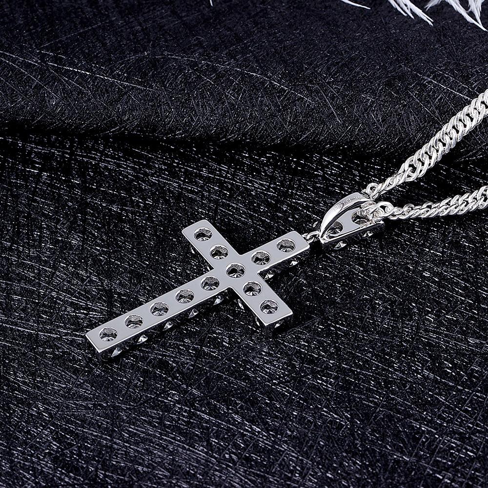 moissanite cross pendant necklace for man (6)