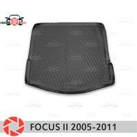 Коврик багажного отделения для Ford Focus 2 2005 2011 багажника коврик напольные коврики Нескользящие полиуретан грязь защиты Интерьер Магистральн