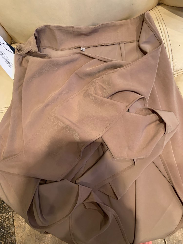 Casual Skirt For Women High Waist Bandage Asymmetrical Midi Skirts Female Korean Fashion Elegant Spring photo review